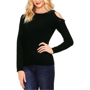 NWT Vince Camuto Sequin Cold Shoulder Sweater